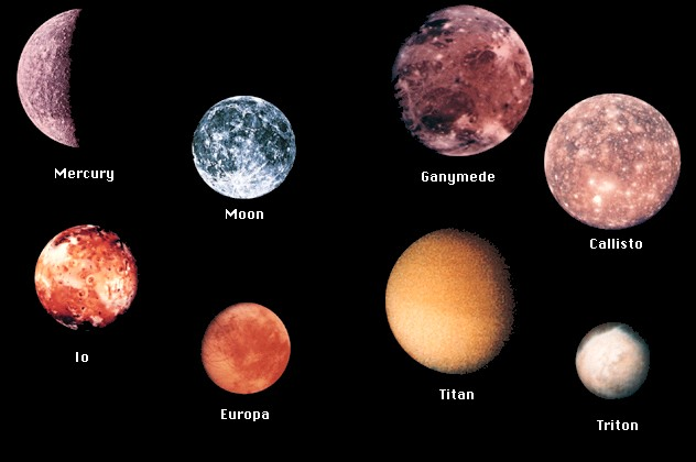 what are the moons of mercury - photo #13